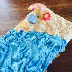 The beach cake