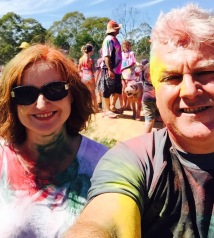 DD and I post colour run.