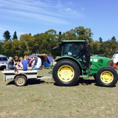 Tractor rides for the kiddies.