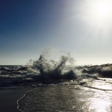Crashing waves at Moses Rock.