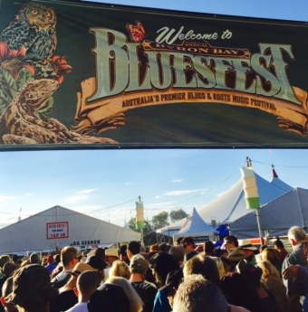The entrance to Bluesfest.