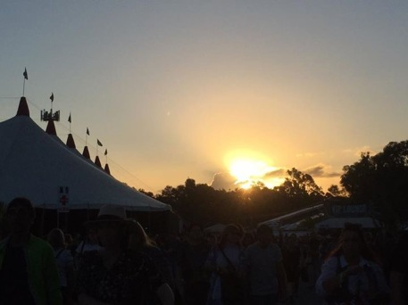 Sunset at Bluesfest.
