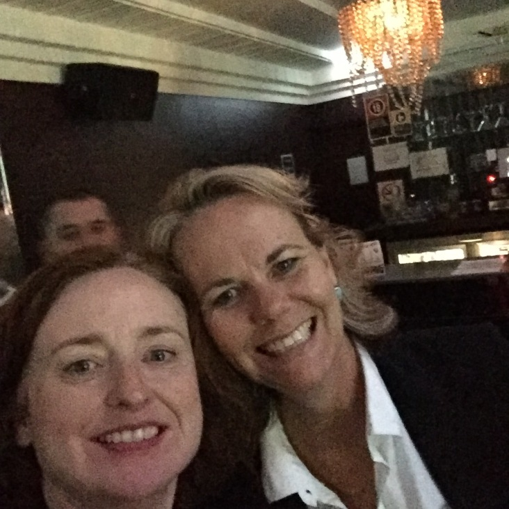 A selfie with my workmate Kathy.