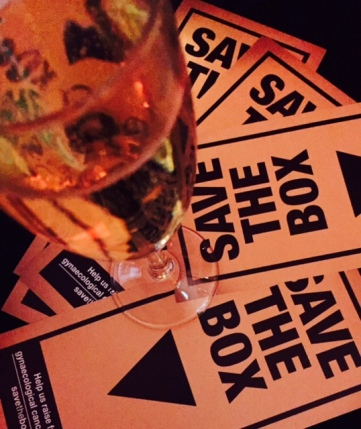 The event raised money for a gynaecological cancer initiative called Save The Box.