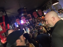 The 20th anniversary party was held at their friend's bar, York Lane.