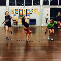 I always love catching the end of the youngest's skipping training. Wow, they're fit!