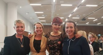 I had kid duties to fulfill, so I missed out on having my pic taken with my colleagues and Tara Moss after her speech at the Symposium.