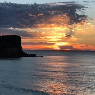 The gorgeous Avalon sunrise.