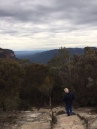 Walking down to Wentworth Falls.