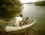 Nan bought us a second-hand canoe to explore the Myall River.