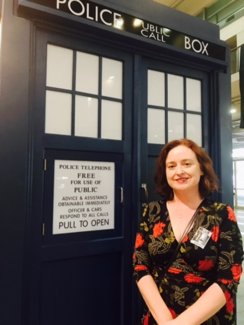 Terrible selfie with the Tardis in the ABC lobby.