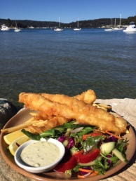 Our fish and chips.