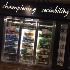The staff bar fridge at Lion.