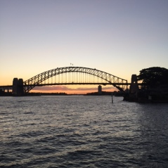 Feeling much better on a ferry from Taronga Zoo to Circular Quay.