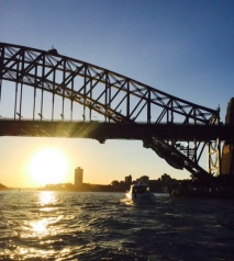 Easing my way out of my funk on the ferry from Milson's Point to Circular Quay.