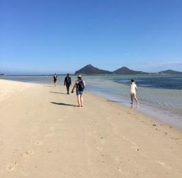 Walking on Jimmy's Beach.