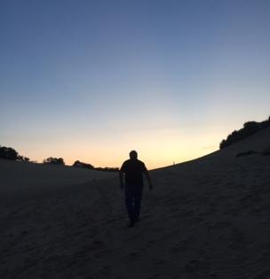 Arty boyf sunset shot.