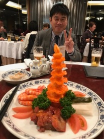 DD's phallic dinner last night.