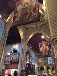Inside Christ Church cathedral.
