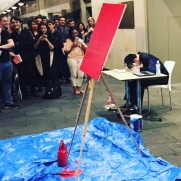 Watching paint dry while a bloke put his face in a bowl of water for 60 seconds ... 60 seconds is a remarkably long time to watch someone not breathe, I was scared he was dead.