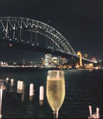 Gaye's Jansz with an amazing backdrop.