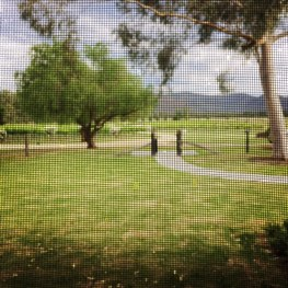 View through the front screen door of Tinonee.