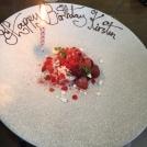 Kirsten's birthday dessert.