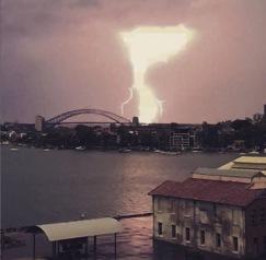 Ian's pic of the lightning.