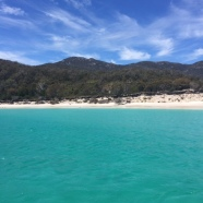The amazing water in Wineglass Bay.