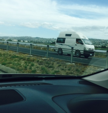 One of the endless campervans we saw on our travels.