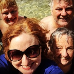 A selfie with DD, his mum and cousin.