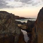 Spiky Beach at dusk.