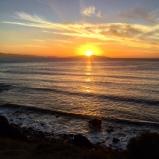 Sunrise near our cabin over the Freycinet peninsula.