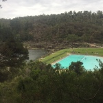 The swimming pool at the Gorge.