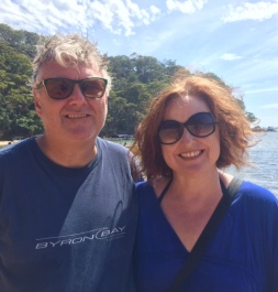 DD and I on Currawong Beach in Pittwater during our boat ride.