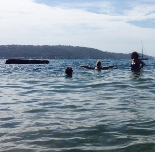 Swimming at Currawong.