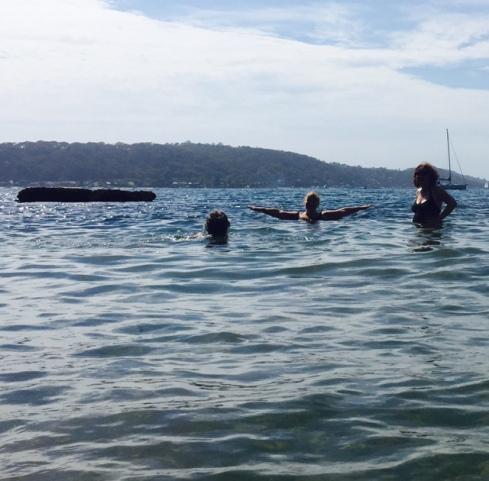 Swimming at Currawong.