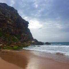 The beach beside the damn sandhills.