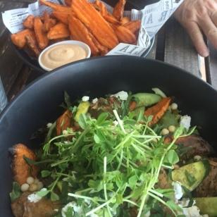 We shared a salad on Saturday night.