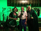 An old Italian bloke wandered in and sang us a song.