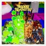 The dual birthday cake