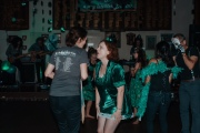 Do not zoom in on this pic, but it's fun from a distance: me and Emma bopping.