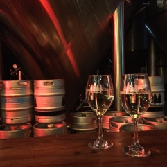 Wine in a brewery!