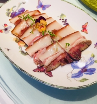 Cold, sliced roast pork