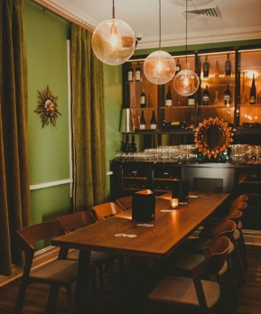 The private dining room at Misfits.
