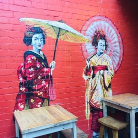 A mural in Spice Alley