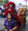 There was a dragon dance in Cabramatta - awesome timing.