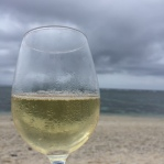 We wandered down to the shore for the last glass and sat on beach chairs as a storm rolled through