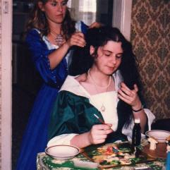 Megan as a fair maiden