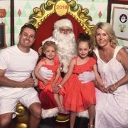 """Grant Denyer: """"Yep, we're THAT family. And proud of it. Merry #christmas everybody. 💖 from the Denyers"""""""